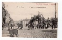 Compiègne - La Passerelle Et Le Passage à Niveau , Belle Animation - 60 - - Compiegne