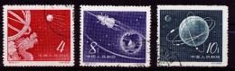 A4025) PR China Sputnik 1958 Mi.407-409 Gestempelt Used - Gebraucht