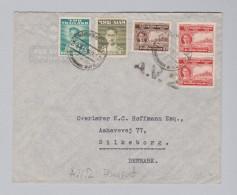 Thailand Siam Bangkok 1952-0?-29 A.V.2. Luftpost Brief Nach Silkeborg Dänemark - Thaïlande