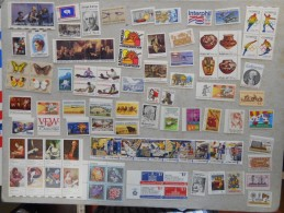 United States USA Collection With ZIP Ect. See Pics, More Than 1.100,00 Face Only Mnh But Some Only For Postage - Etats-Unis