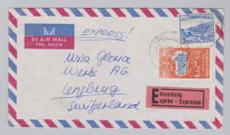 Pakistan 1964 Karachi Exprès Flugpost Brief Nach Lenzburg - Pakistan