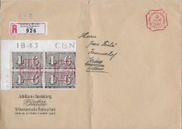 ZÜRICH → 100 Jahre Schweiz. Briefmarken, Vorderseite Eines Umschlages ► Sonder-Abstempelung 01.03.1943 - Interi Postali
