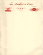 MENUS - 33 - BORDEAUX CALVET - BOURGOGNE - Menus