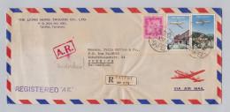 Asien Taiwan 1967-10-11 Taipai Flugpost R-Brief Mit Rückschein Nach Zürich - 1945-... République De Chine