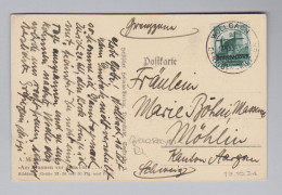 DR 1934-10-17 Wollach RL Grenzrayon Postkarte Nach Möhlin - Allemagne