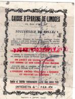 87 - BELLAC - BUVARD CAISSE EPARGNE LIMOGES -12 RUE D' ISLY- MAGNAC LAVAL-AIXE-BESSINES-CHALUS-LAURIERE-NEXON-EYMOUTIERS - Bank & Insurance