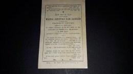 MARIA JOSEPHA VAN AARSEN. 100 JARIGE. Geb Te Antwerpen 1771, Aldaar Overl In 1872. 2scans. - Images Religieuses