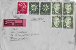 MISCHFRANKATUR → Eilsendung Von Märstetten Nach Frauenfeld 02.12.1944 - Lettres & Documents