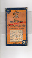 75 - PARIS - CARTE CYCLISTE -CYCLISME- MICHELIN - RARE 1945-MAISONS LAFFITTE-VERSAILLES-CHEVREUSE-CORBEIL-PONTOISE-MEAUX - Roadmaps