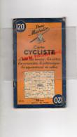 75 - PARIS - CARTE CYCLISTE -CYCLISME- MICHELIN - RARE 1945-MAISONS LAFFITTE-VERSAILLES-CHEVREUSE-CORBEIL-PONTOISE-MEAUX - Cartes Routières