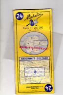 SUISSE - CARTE MICHELIN - ANDERMATT-BOLZANO- ZURICH- DZINT MORITZ-DAVOS-TIRANO-LOCARNO-MERANO-1963 - Roadmaps