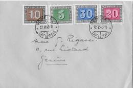 PAX - AUSGABE → Genève 1 Abstempelung 12.05.1945 Ohne Adresse ►SBK 262 Bis 265◄ - Suisse