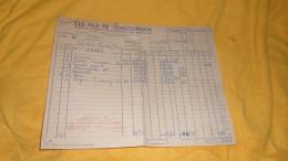 FACTURE DE 1953. / LES FILS DE JOUGOUNOUX. / CHARENTON. AVEC UN LAISSEZ PASSER HEURE D'ENLEVEMENT - France