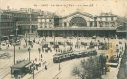 Cpa -    Paris   -     La Gare De L 'Est                                            T179 - Arrondissement: 10