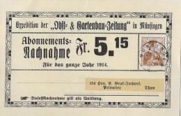 MÜNSINGEN → Expedition Der Obst- & Gartenbau-Zeitung ►SBK 121◄ - Interi Postali