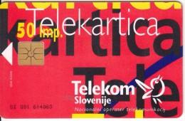 SLOVENIA SLOVENIJA PHONECARD 1996 PUZZLE 4 RDEČA RED   TELEKOM CAT.NO. 019 - Slovenia