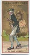 Mini-Chromo/A La Bonne Pinte/Rue De Rennes/Un Epicier Ambulant/ Biéres Du Nord & Du Pas De Calais/ Vers 1880-85  IMA186 - Autres