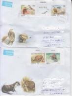 SERBIA : PROTECTED FAUNA On 2 Covers Circulated To ROMANIA - Envoi Enregistre! Registered Shipping! - Aquile & Rapaci Diurni