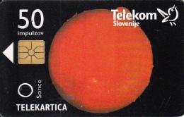 SLOVENIA SLOVENIJA PHONECARD 1996 OSONČJE OSONCJE SONCE SUN  SOLAR SYSTEM PLANETS TELEKOM CAT.NO. 023 - Slovenia