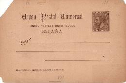 1884, Alphons XII. Carte Entier Edifil N° 15, Neuf Selon Scan, Lot 45528 - Entiers Postaux