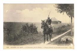 CPA 77 GUERRE DE 1914 A Chauconin Pres De Meaux Dragon Français En Patrouille Sur La Route - War 1914-18