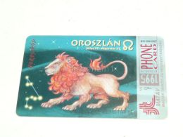 Leo Lion Zodiac 1995 Phonecard Hungary - Zodiaco