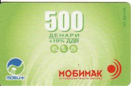 Mazedonien -  Makedonie, Mobimak Prepaid Phonecard - Macedonia