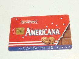 Americana America Stollwerck Chocolate Nuss Phonecard Hungary - Food