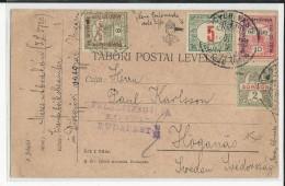 HONGRIE - 1916 - CARTE De DIOSGYÖRI VASGYAR Avec CENSURE AFFRANCHIE AVEC TIMBRES-TAXE.. - Marcophilie