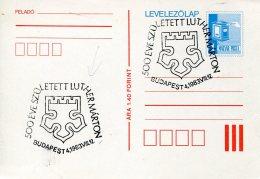 9555  Hungary Special Postmark 1983  Budapest,  Martin Luther - Beroemde Personen