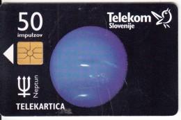 SLOVENIA SLOVENIJA PHONECARD 1998  OSONCJE NEPTUN  PLANETS SOLAR SYSTEM  TELEKOM CAT.NO. 078 - Slovenia