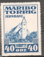 Denmark Local Railway Parcel Post, .Maribo 40 Oere. MNH.Trains/Railways - Trains