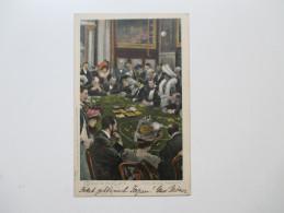 AK / Künstlerkarte 1904 Souvenir De Monte Carlo. Faites Vos Jeux Messieurs! Spielcasino. Menton Alpes Maritmes - Ansichtskarten