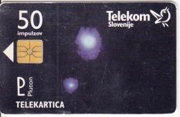 SLOVENIA SLOVENIJA PHONECARD 1997  OSONCJE PLUTON EMS POSTA  PLANETS SOLAR SYSTEM  TELEKOM CAT.NO. 079 - Slovenia