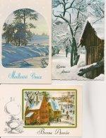 L90A447 - Bonne Année - Lot De Trois Cartes - Paysages De Neige - Nouvel An