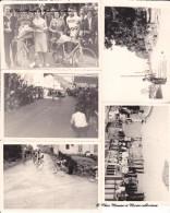 1965 COURS LA VILLE - CYCLISME - PRIX VALENTIN - MARDORE PONT GAUTHIER - RHONE 69 - LOT DE 7 PHOTOS + ARTICLE - Ciclismo