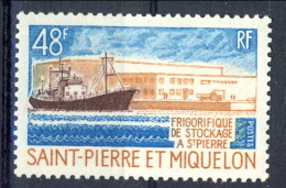 S. Pierre Et Miquelon 1970 N. 406 Fr. 48 Frigo Stoccaggio  MVLH Catalogo € 25,50 - St.Pierre & Miquelon