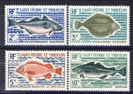 S. Pierre Et Miquelon 1972 Serie N. 421-424 Pesci MVLH Catalogo € 36 - St.Pierre & Miquelon