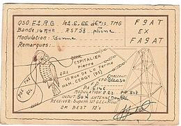CARTE - RADIO - QSL - HAM - CERGY - 1966 - - Radio Amateur