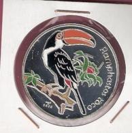 CUBA 10 PESOS 2006 AG PROOF COLOURED PELICAN BIRD NOT IN KM - Cuba