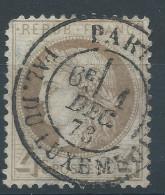 Lot N°30880  Variété/n°52, Oblit Cachet à Date De PARIS (Aal.du Luxembourg), Filet EST - 1871-1875 Ceres