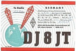 CARTE - RADIO - QSL - WEIDEN - 1969 - - Radio-amateur