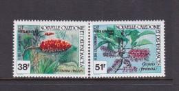 New Caledonia SG 650-51 1981 Flowers, MNH - New Caledonia