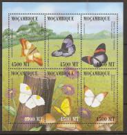 MOZAMBIQUE 1999, Butterflies - Butterflies