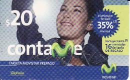 Argentina, Movistar - Telefonica,prepago Card Nominal 20 - Argentina