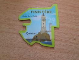 Mag516   MAGNET LE GAULOIS / CARTE DE FRANCE : Département 29 FINISTERE + PHARE DE LA VIEILLE + QUIMPER   Très Bon état - Turismo