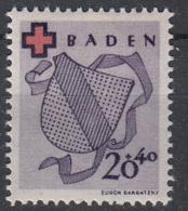 DUITSLAND - Michel - 1949 - Nr 43A - MH* - Französische Zone