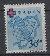 DUITSLAND - Michel - 1949 - Nr 44A - MH* - Französische Zone