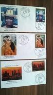 POLYNESIE - 1974 - SERIE YVERT N° PA 84/88 COMPLETE SUR ENVELOPPE FDC - TABLEAUX - COTE DES TIMBRES = 85 EUR - FDC