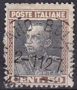 Regno D'Italia, 1927 - 50c Effige Di Vittorio Emanuele III - Nr.218 -  Usato° - Usati
